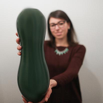 """Vase """"Back"""", made in Deruta (PG, Umbria, Italy)"""