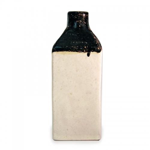 """Decorated terracotta bottles """"Vietri sul Mare"""" artistic ceramics"""