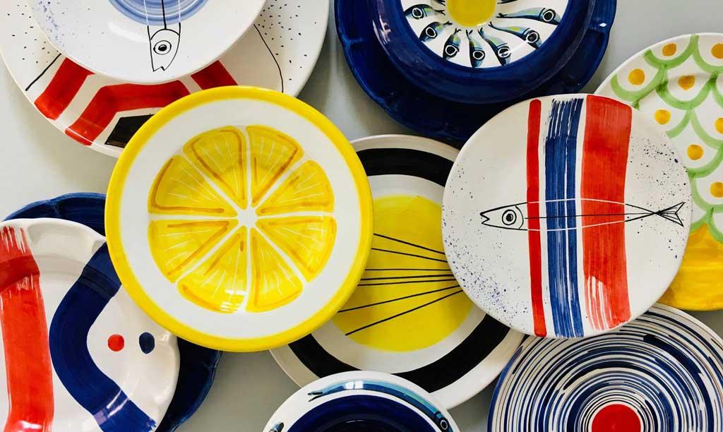 piatti ceramica ceramica decorata solimene art